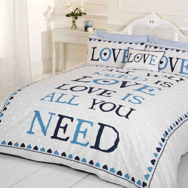 All You Need Is Love Blue Duvet Cover Great S Bedding Range For Agers
