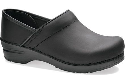 dansko professional black oiled. so comfy and not bad looking with jeans.-- LOVE, LOVE, LOVE these shoes