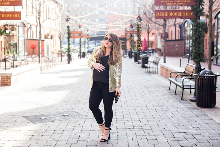 Gold Sequin Blazer | Coffee Beans and Bobby Pins