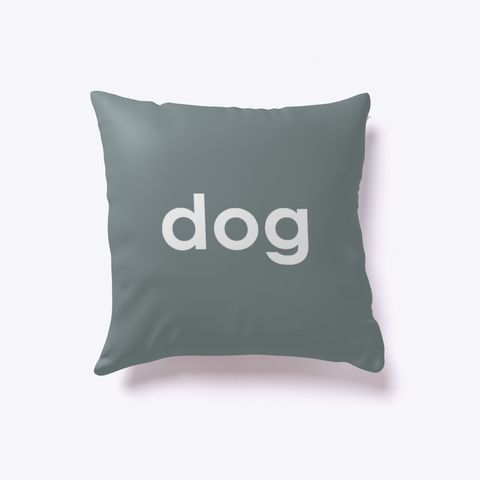 Dog And Cat Reversible Pillow Medium Grey. Dog lover? Cat lover? Evenly split household? Now you can show your love for both with our reversible dog-cat pillow. Just turn it over to impress guests who love one over the other. Buy one today!