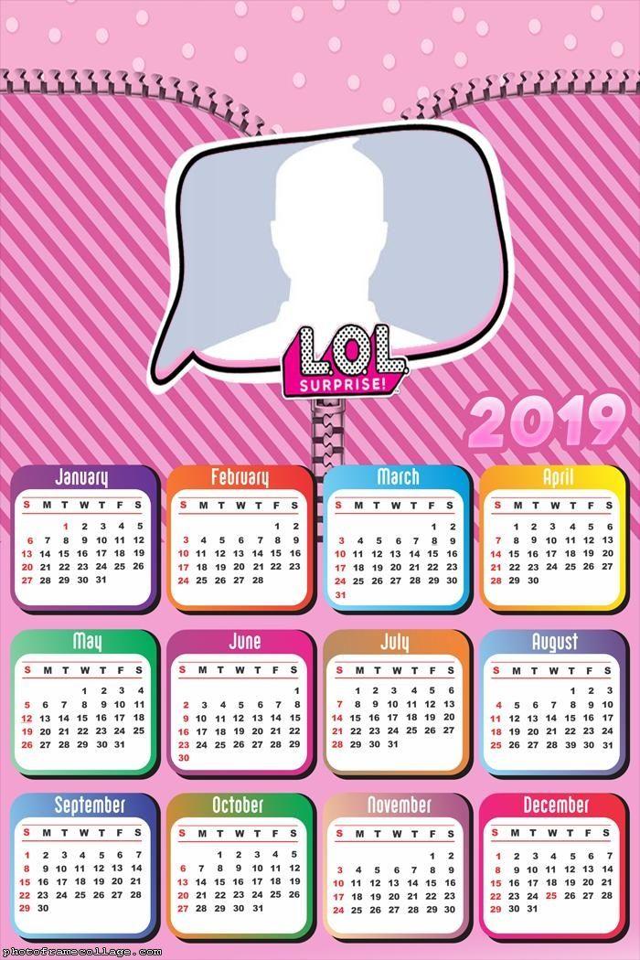 Lol Surprise Calendar 2019 Frame Photo Montage Free Online Lol Lol Dolls Photo Frames For Kids