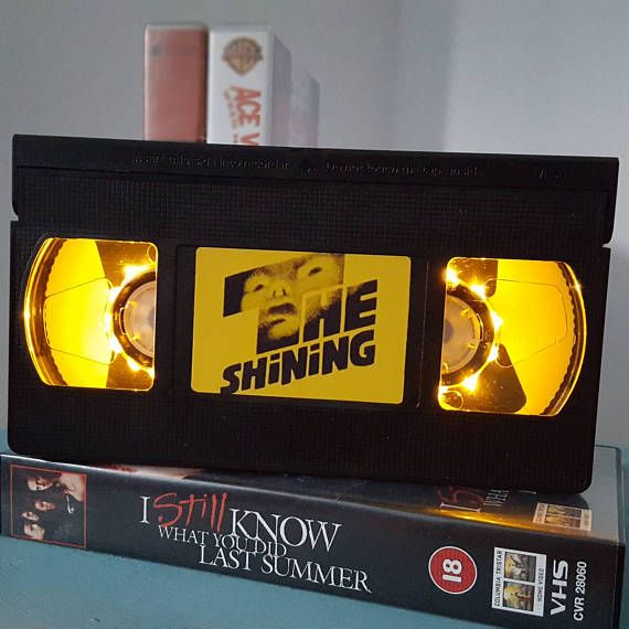 Attention all retro horror geeks! These horror VHS lamps made from real cassette tapes are kind of the coolest illuminated product I've ever seen.