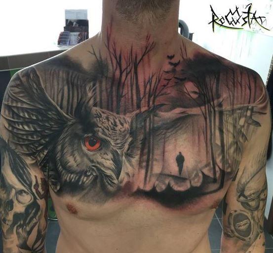 The 100 Best Owl Tattoos For Men Improb Owl Tattoo Chest Owl Tattoo Mens Owl Tattoo