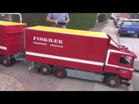 Rc Truck Largescale 1:4 (fiskbæk bil afhentes) - YouTube