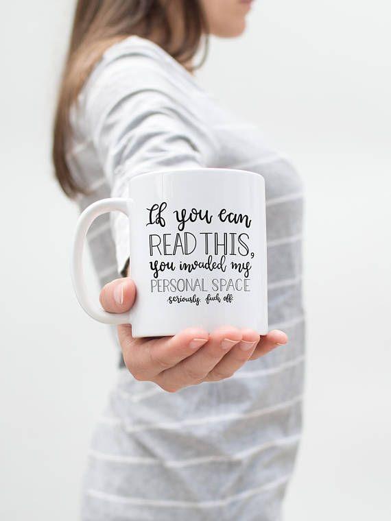 Personal Space Mug, Fuck Off Mug, Go Away, Anti Social, Sarcastic Mug, Funny Coffee Mug, Kitchen Decor, Home Decor, Introverting, Funny Gift #Leavemealone #introvert #introvertproblems #funnymug #mug #coffeemug #homedecor