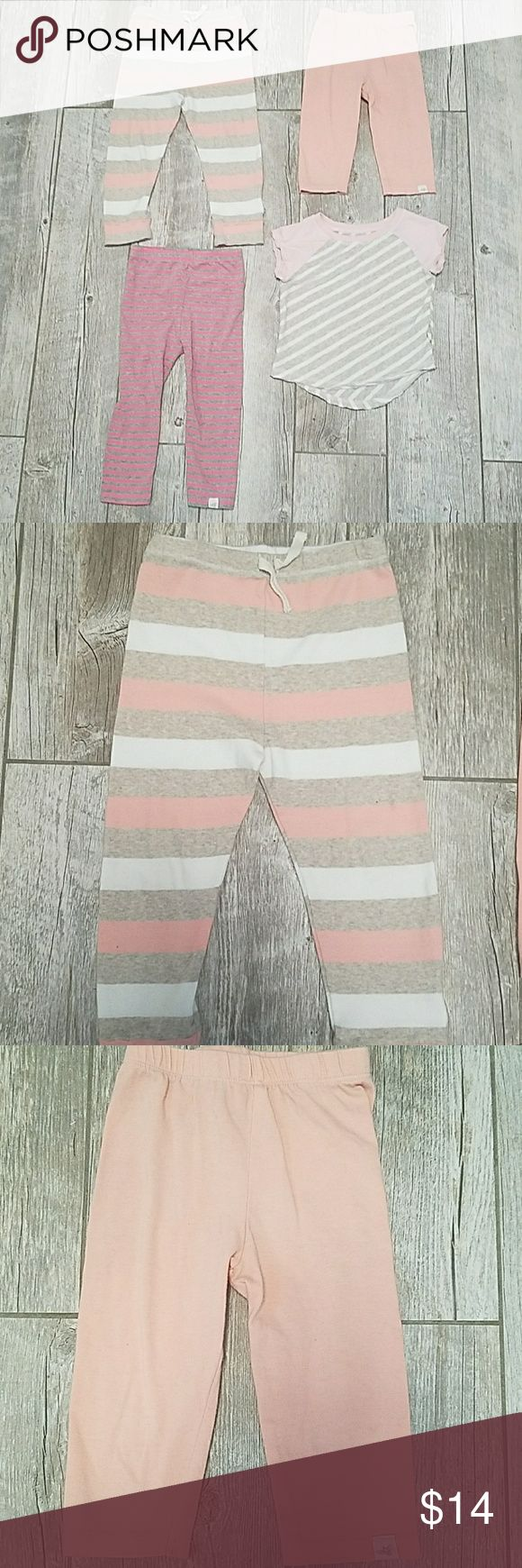 Toddler girl Burt's Bees bundle This bundle includes 2 pairs of striped pants, one pair of capris, and one striped tee. EUC from smoke free home Burt's Bees Baby Bottoms Leggings