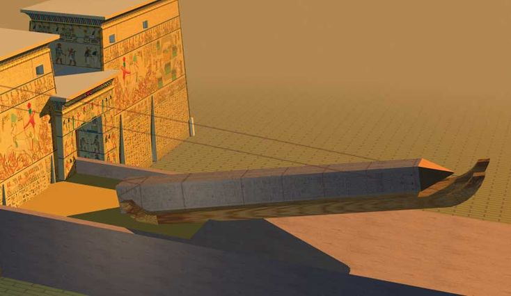 Luxor Tempel Bau eines Obelisk by discoveringegypt.com