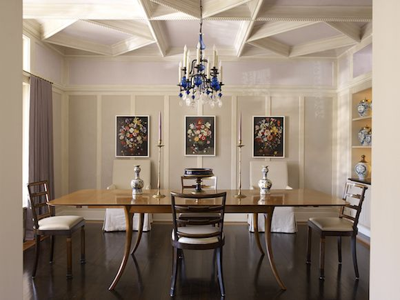 The Coffered Ceiling Makes Room Feel Like A Formal Space For Entertaining