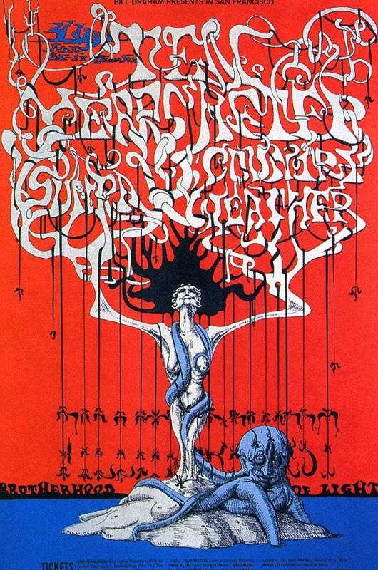 (BG 145) 1968 Ten Years After / Country Weather / Sun Ra at Fillmore West. Art by Lee Conklin.