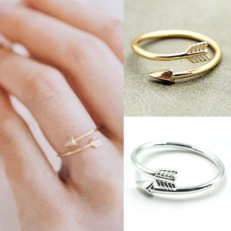 This cute arrow ring will go straight to your heart, and into the shopping cart. The unique piece will make it the star of your stackable ring sets. Whether you choose the silver or the gold color arr