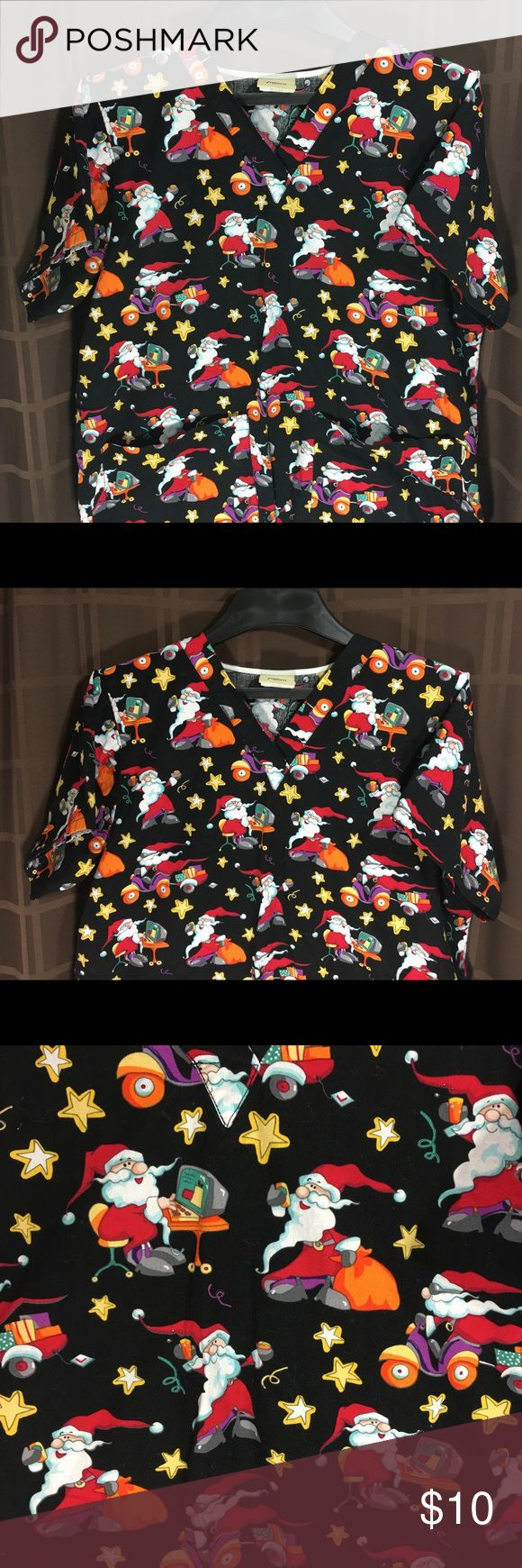 Tafford Nurses Uniform Scrub SantaclausBlack Sz M You Are Buying Tafford Nurses Uniform Scrub Santaclaus Print  2 Pocket Black Sz M Medium  It is in great  pre-own Condition.  Fast shipping in the USA via USPS.  FEEDBACK: we strive to earn positive 5 star feedback for all items. And we will leave the same for all good buyers.  If you feel we deserve anything less please send us a message before leaving anything less or opening a case and we will fix the issue within 24 hours.   Thank you…