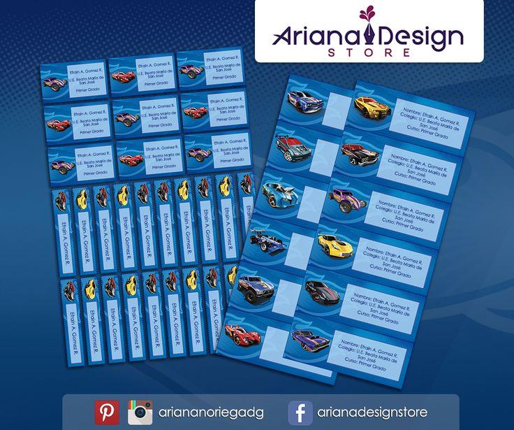 #etiquetas #etiquetasescolares #hotwheels #cars #racingcar #nametag #label #school #stickers