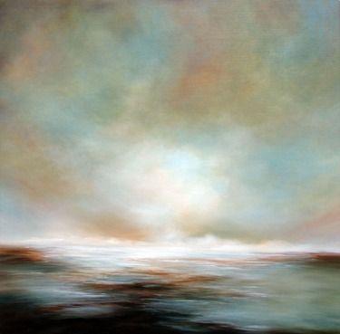 "Saatchi Online Artist Alison Johnson; Painting, ""Bight Horizons"" #art"