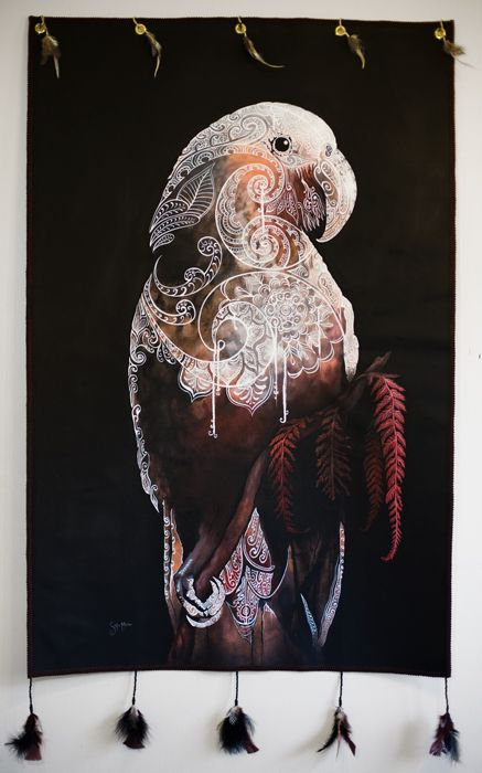 The Kaka is Calling | Sofia Minson Oil Painting | New Zealand Artwork