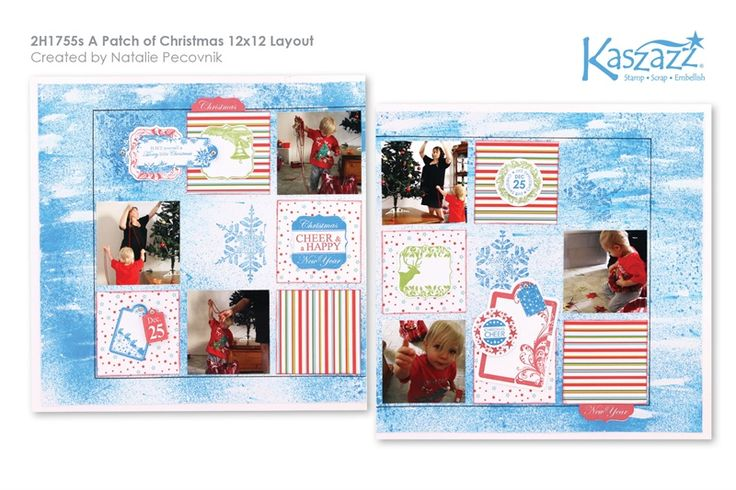 2H1755s A Patch of Christmas 12x12 Layout