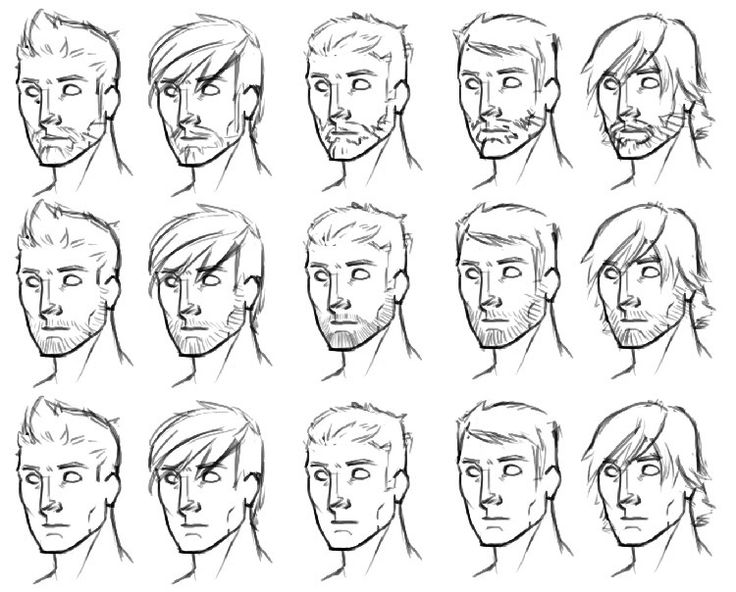 anime boy drawing - Google Search | How to draw hair, Boy ...