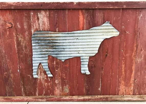 Reclaimed Tin Chicken Silhouette