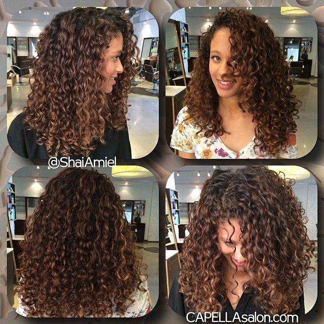 Pin By Shai Amiel On Hair By Shai Amiel Curly Hair Styles Colored Curly Hair Ombre Curly Hair