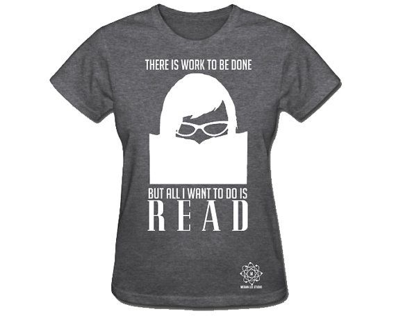 Want To Read Library Reading Tshirt Womens Geek by meganlee