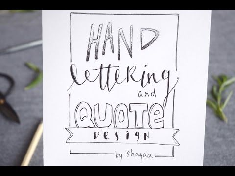 How to Design + Hand Letter a Quote - YouTube