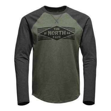 The North Face Men's Long-Sleeve 66 Diamonds Raglan Tee Shirt