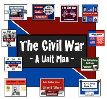 The Civil War - A Unit Plan!  11 highly-engaging, hands-on activities!