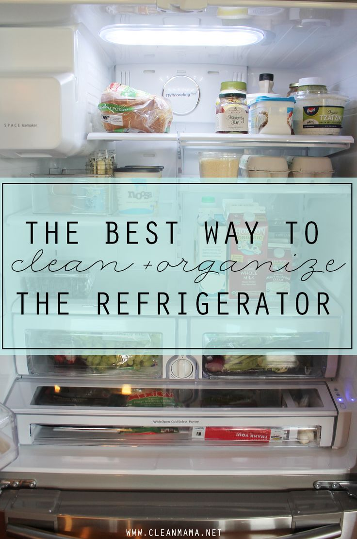 Make room for holiday baking, food and company with a quick guide to cleaning and organizing your fridge.