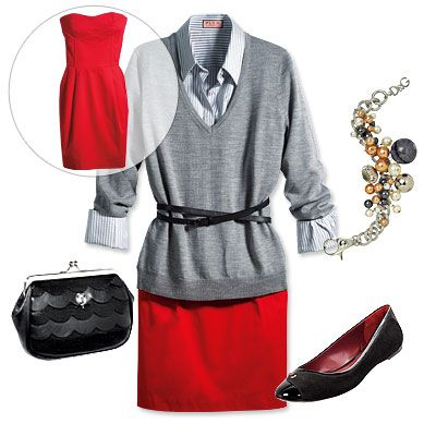 professional pencil skirt outfits | ... , pencil skirt, sweater spring professional