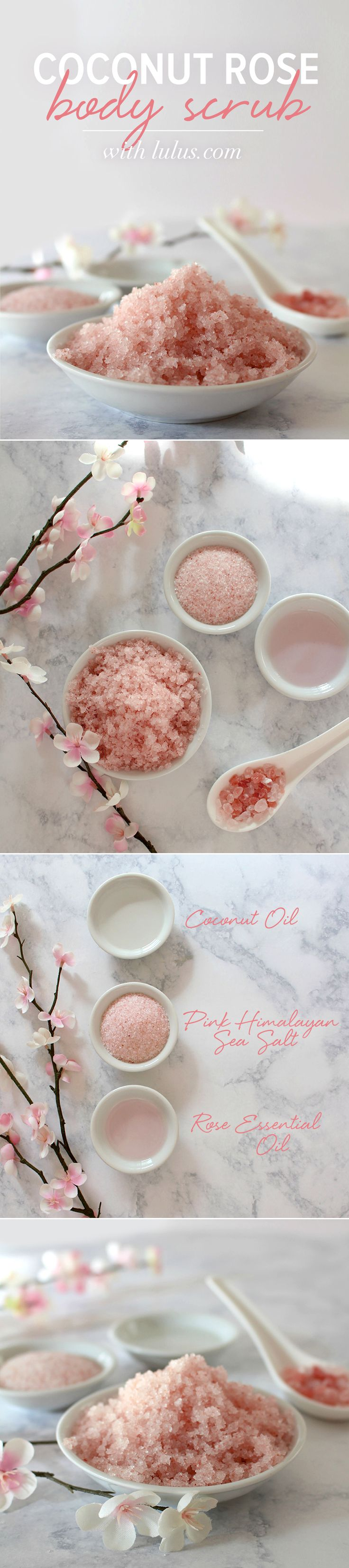 This coconut rose body scrub is the perfect gift for Mom to help her relax and feel beautiful!