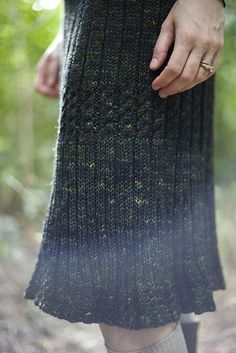 Ravelry: Aralia pattern by Kennedy Berry; I'd make this in a shorter length, just above the knees.