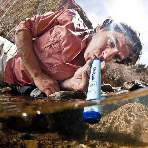 Outdoor Retter: Wasserfilter Strohhalm
