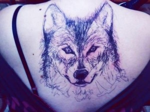 Wolf tatto... real?