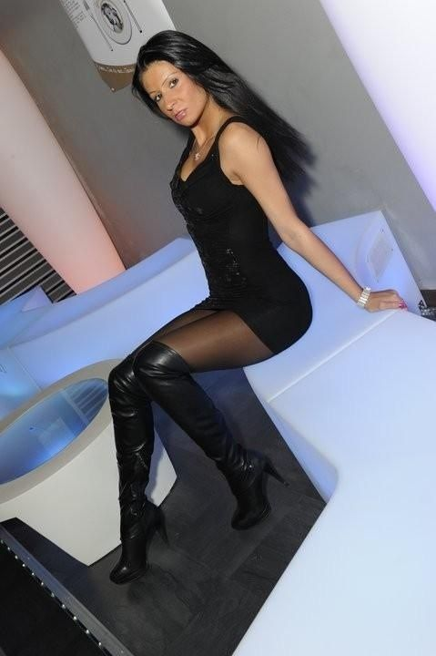 Boots and pantyhose looks