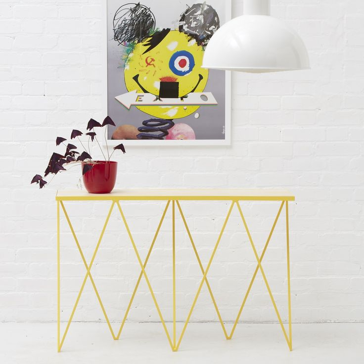 Steel furniture   Giraffe steel console table in yellow    New   Modern  British Furniture. 276 best  New   Modern British Furniture images on Pinterest   The
