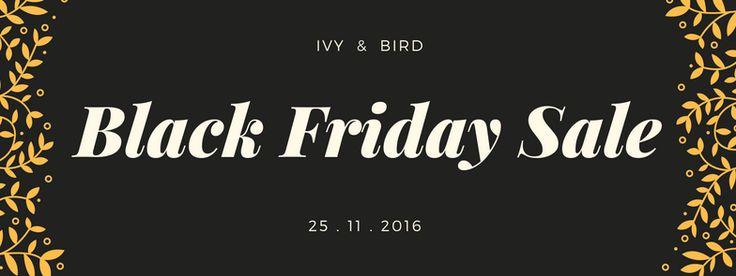 Black Friday Blog  www.ivyandbird.com.au