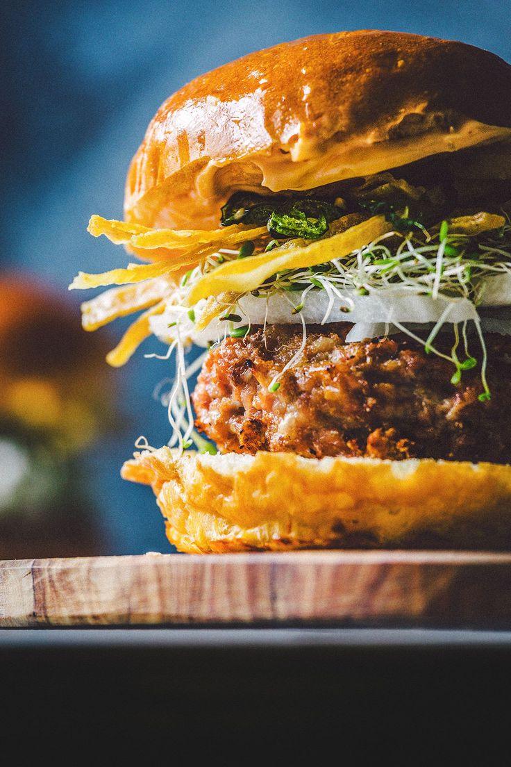 Chicken Burgers w/ Jicama