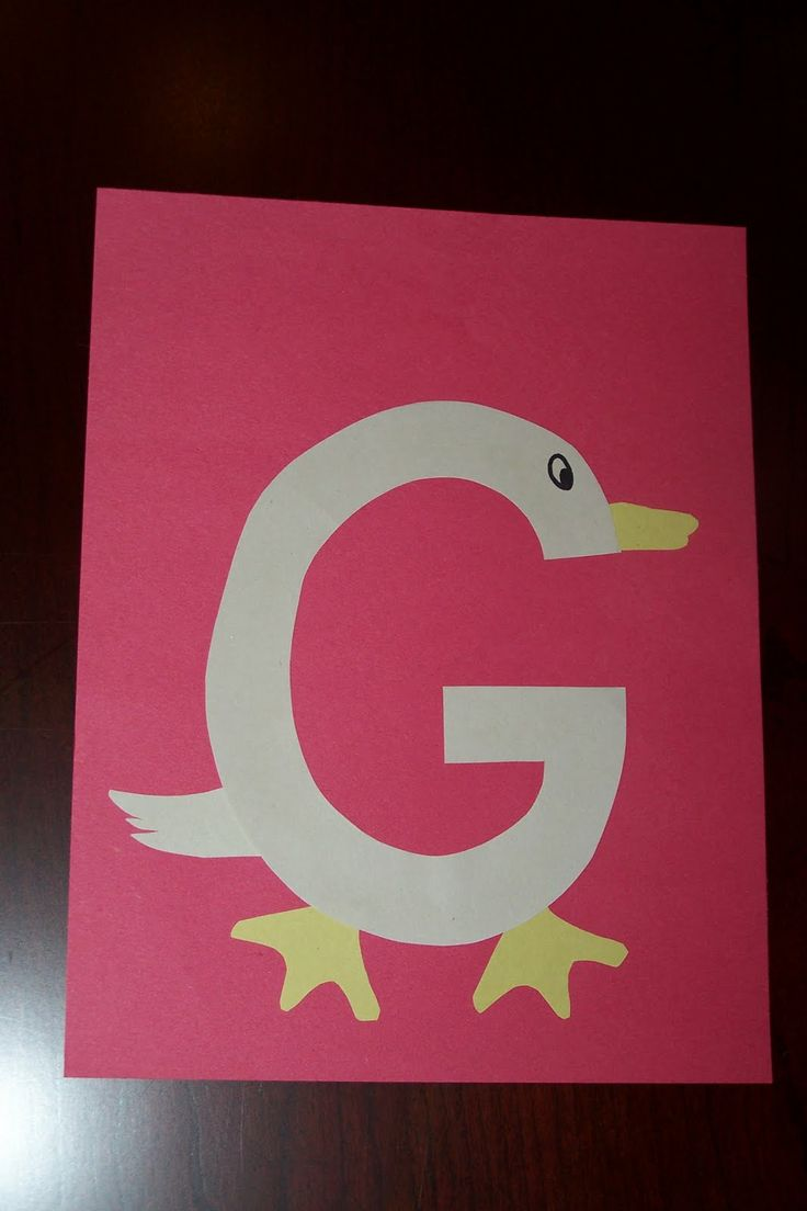 Letter g arts and crafts for preschool for Arts and craft letters