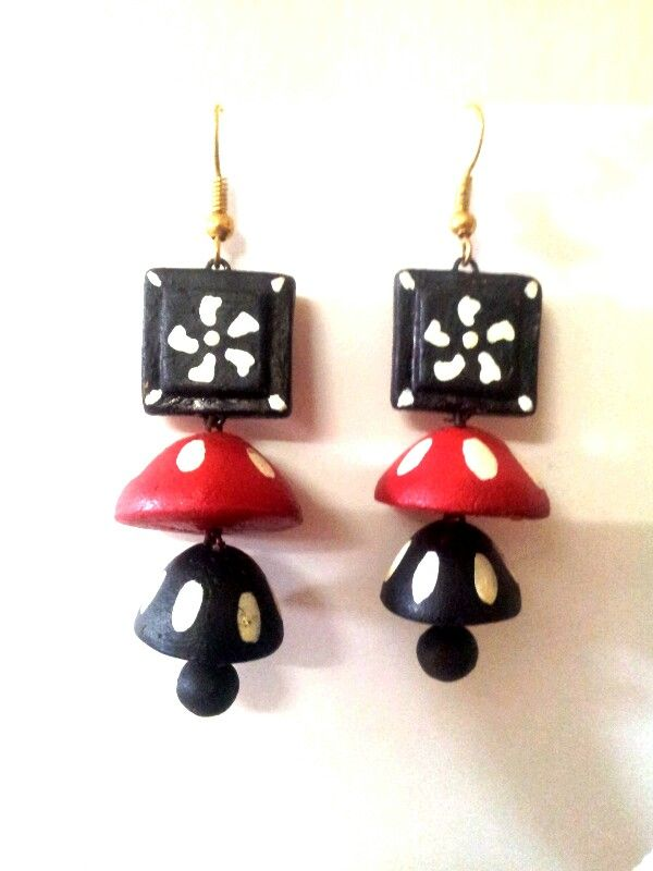 My terracotta earrings. ..