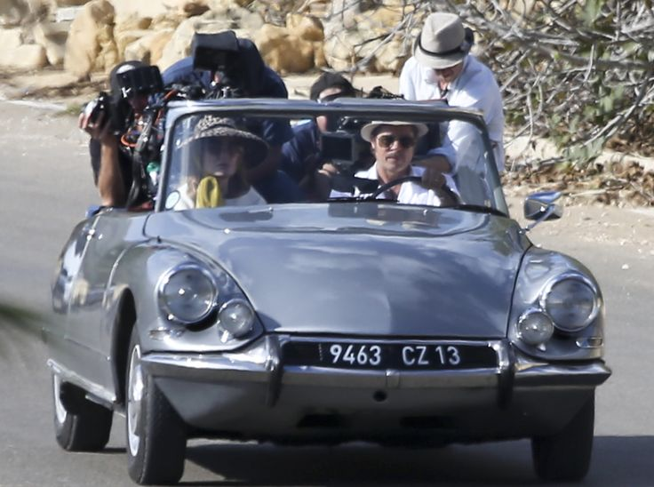 "Angelina Jolie-Pitt and Brad Pitt film a scene for their movie ""By the Sea"" in Goza, Malta, 2015."