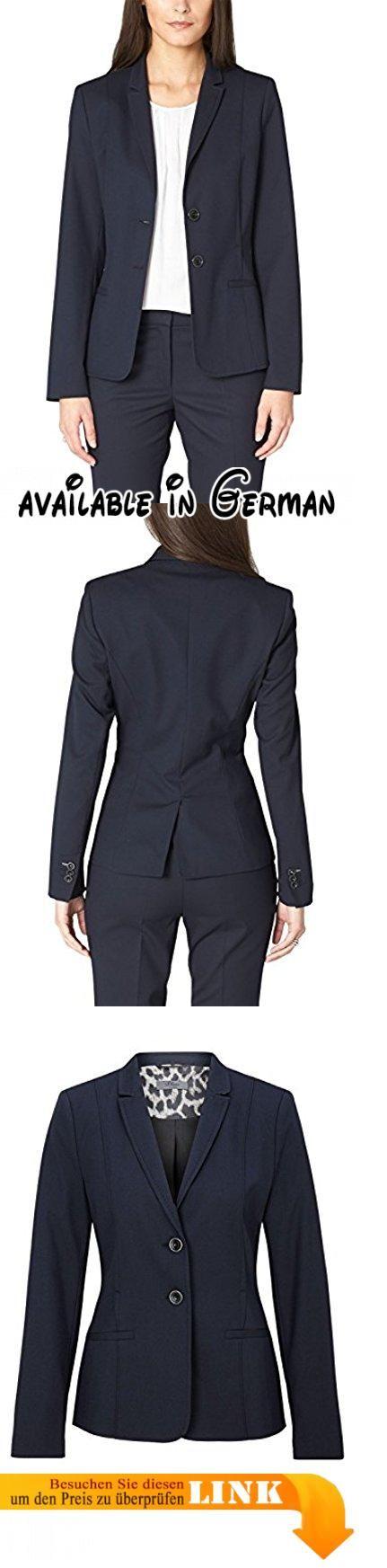 s.Oliver BLACK LABEL Damen Blazer 1 - Knopf, Gr. 36, Blau (deep blue 5959, Blau). Gepflegter und etwas längerer Blazer in dezent strukturierter Optik. Schmale Form, die eine schöne Taille macht. Sehr edel mit der  passenden Hose, aber auch lässig zur Jeans ein echter Klassiker!. Die sehr hochwertige Materialzusammensetzung und Verarbeitung garantieren eine perfekte Passform und optimalen Tragekomfort. #Apparel #BLAZER