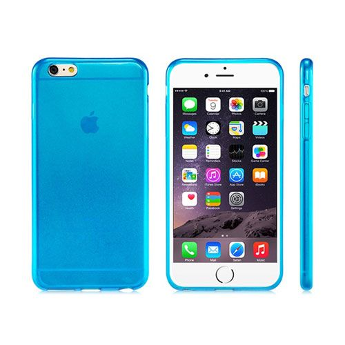 Ultra-Thin Rubber Shell Case Cover (Blue) - iPhone 6 Plus. From www.iToys.co.za