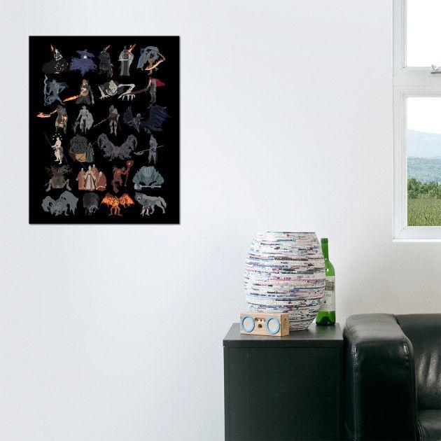 Dark Souls 3 - All bosses (complete edition) poster by #DigitalCleo on #Teepublic - #DarkSouls3 #DarkSoulsIII #DarkSouls #NamelessKing #Midir #Gael #TheRingedCity #AshesOfAriandel