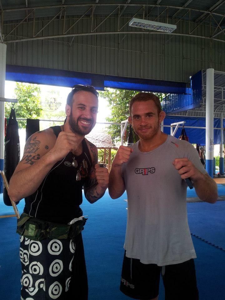 training m.m.a. with Anthony Leone Bellator Fighter , thailand 2010