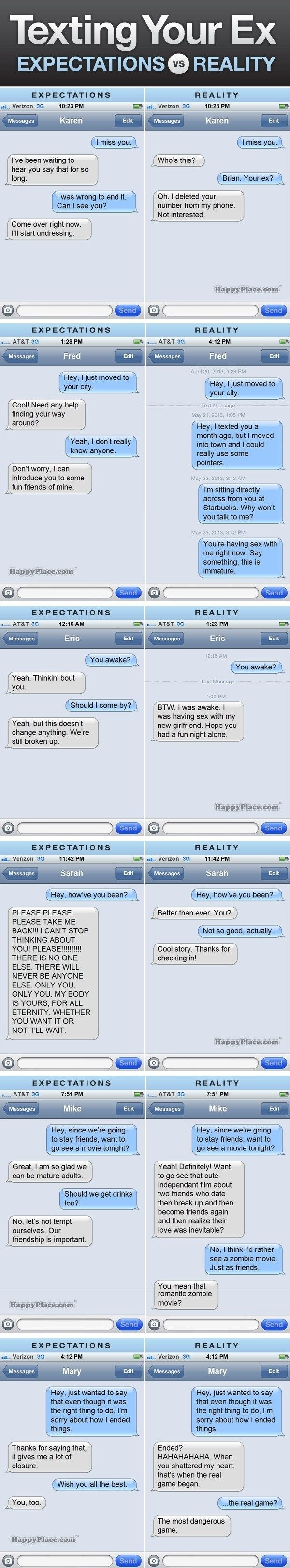 Texting your ex // funny pictures - funny photos - funny images - funny pics - funny quotes - #lol #humor #funnypictures
