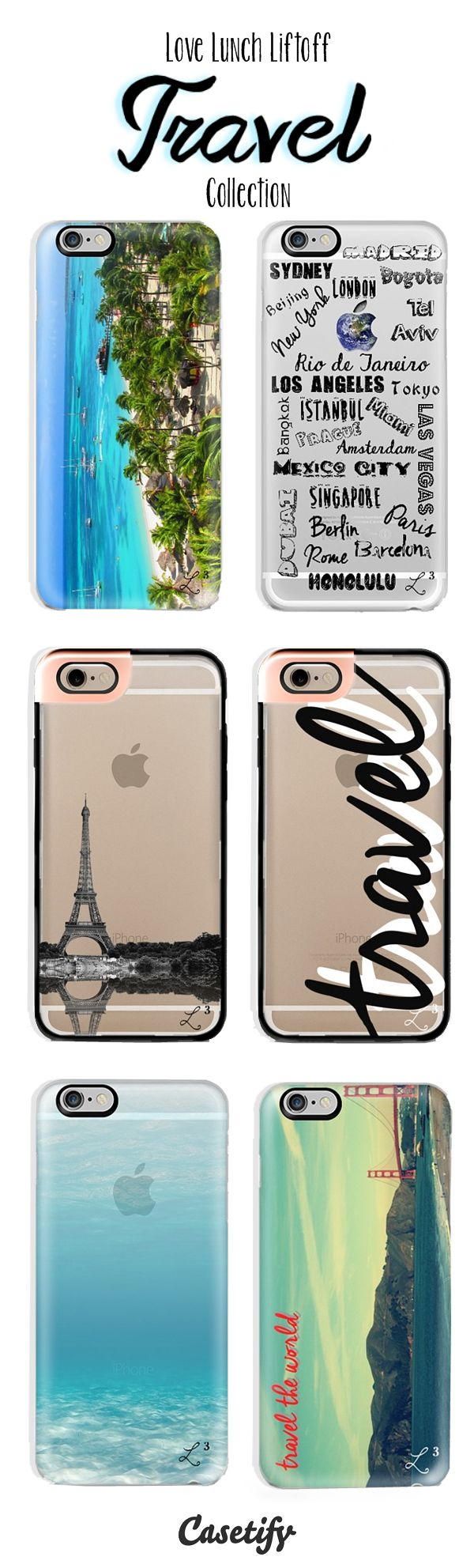 L3 Travel Collection available from @casetify - use promo code QJ3PX9 to get $10 off and FREE Shipping Worldwide. #travel #casetify #traveltheworld