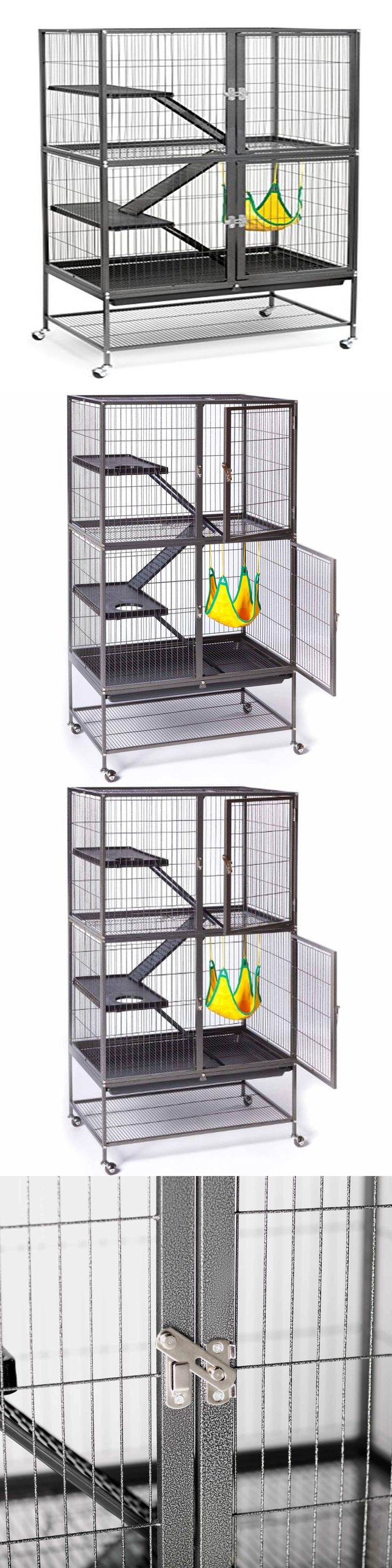 Diy catio plan the sanctuary catio plans with 6x8 and 8x10 options - Cages And Enclosure 63108 Ferret Cage Small Pet Chinchilla Rabbit Hamster Guinea Rat Metal