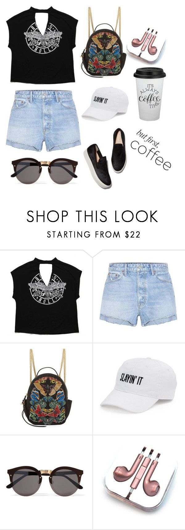 """Untitled #135"" by putrinaini on Polyvore featuring GRLFRND, Kane, Alexander McQueen, SO, Illesteva and PhunkeeTree"