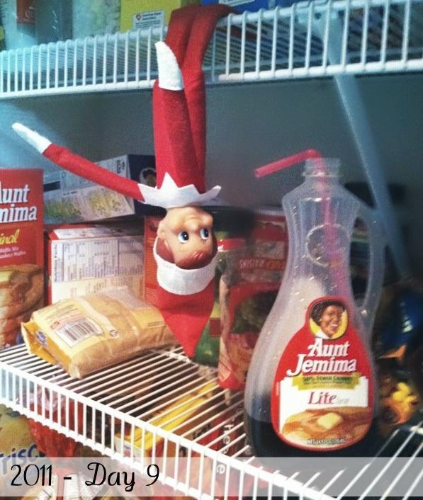 The Only Pink in a House of Blue: Elf on the Shelf - Week 2