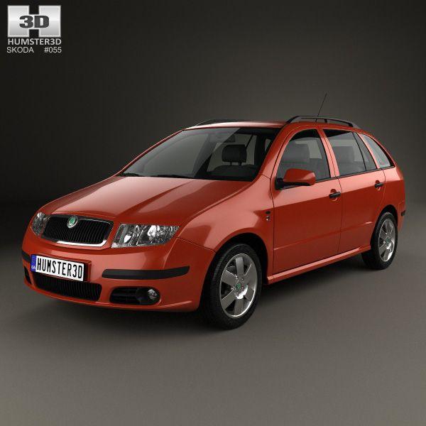 Skoda Fabia Combi 2001 3d model from Hum3d.com.