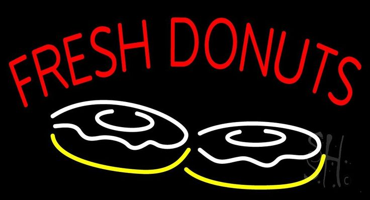 Red Fresh Donuts Neon Sign 20 Tall x 37 Wide x 3 Deep, is 100% Handcrafted with Real Glass Tube Neon Sign. !!! Made in USA !!!  Colors on the sign are Red, Yellow and White. Red Fresh Donuts Neon Sign is high impact, eye catching, real glass tube neon sign. This characteristic glow can attract customers like nothing else, virtually burning your identity into the minds of potential and future customers.